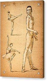 Ballet Studies Acrylic Print by H James Hoff