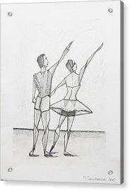 Ballet Acrylic Print by Tamara Savchenko