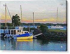 Ballina Boats Acrylic Print by Dennis Cox WorldViews