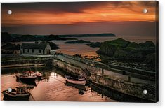 Ballintoy Harbour Sunset Acrylic Print