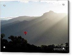 Balloon At Sunrise Acrylic Print