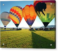 Balloon Glow Acrylic Print by Leland D Howard