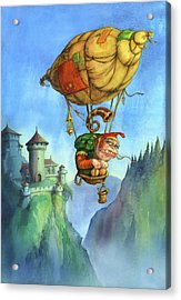 Balloon Ogre Acrylic Print by Andy Catling