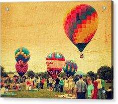 Balloon Rally Acrylic Print by Kathy Jennings