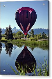 Balloon Reflection Acrylic Print by Leland D Howard