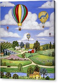 Ballooning In The Country One Acrylic Print