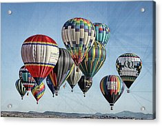 Ballooning Acrylic Print by Marie Leslie