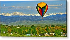 Ballooning Over The Rockies Acrylic Print