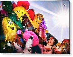 Balloons Acrylic Print by Alessandro Giorgi Art Photography