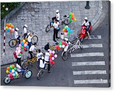 Balloons And Bikes Acrylic Print