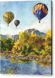 Balloons At Twin Lakes Acrylic Print
