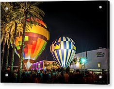 Balloons In The City Acrylic Print by Marvin Spates
