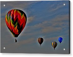 Balloons In The Sky Acrylic Print