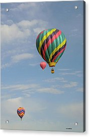 Balloons Over The Desert Acrylic Print by Allen Sheffield