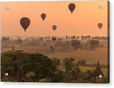 Balloons Sky Acrylic Print by Marji Lang