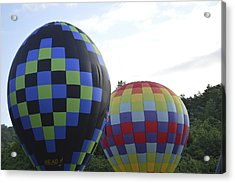 Balloons Waiting For The Weather To Clear Acrylic Print by Linda Geiger