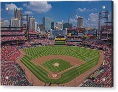 Ballpark Village Cardinal Nation Busch Stadum St. Louis Cardinals April 2015 #2 Acrylic Print by David Haskett