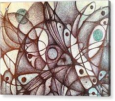Ballpoint On Canvas  Acrylic Print