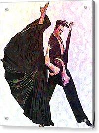Ballroom Dance Acrylic Print by Elena Kosvincheva