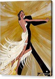 Ballroom Dance Acrylic Print by Helen Gerro
