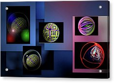 Acrylic Print featuring the photograph Balls Afloat by Irma BACKELANT GALLERIES