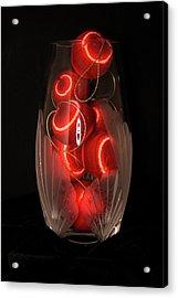 Balls In Crystal Vase Acrylic Print