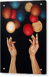 Balls In The Air Acrylic Print by Lorraine Ulen