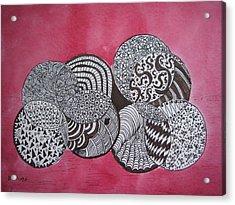 Balls Of Yarn Acrylic Print by Bonnie Wright