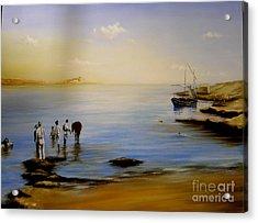Balluta Bay Malta 1935 Acrylic Print
