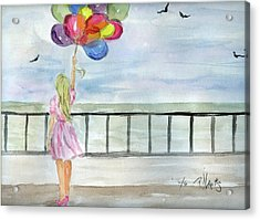 Acrylic Print featuring the painting Baloons by P J Lewis