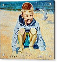 Baltic Beach Acrylic Print by Henryk Gorecki
