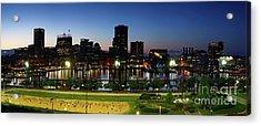 Baltimore Beach And Inner Harbor At Sunset Acrylic Print