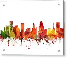 Baltimore Cityscape 04 Acrylic Print by Aged Pixel