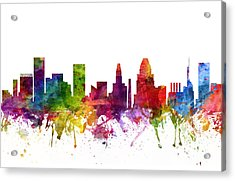 Baltimore Cityscape 06 Acrylic Print by Aged Pixel