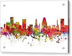 Baltimore Cityscape 08 Acrylic Print by Aged Pixel