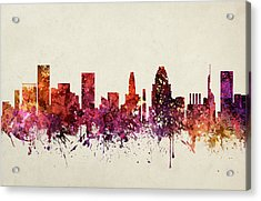 Baltimore Cityscape 09 Acrylic Print by Aged Pixel