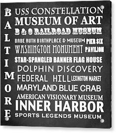 Baltimore Famous Landmarks Acrylic Print
