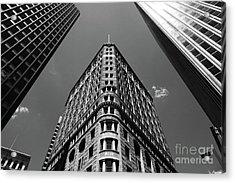 Baltimore Fidelity Building In Monochrome Acrylic Print