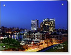 Baltimore Harbor East District At Twilight Acrylic Print
