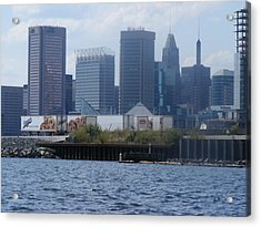 Baltimore Harbor Acrylic Print by James and Vickie Rankin