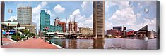 Baltimore Harbor Panorama Acrylic Print