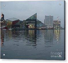 Baltimore Harbor Reflection Acrylic Print by Carol Groenen