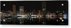 Baltimore Harbor Acrylic Print by Shane Psaltis