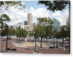 Baltimore Inner Harbor Play Area Acrylic Print