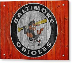 Baltimore Orioles Graphic Barn Door Acrylic Print by Dan Sproul
