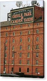 Baltimore Orioles Park At Camden Yards #2 Acrylic Print