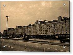 Baltimore Orioles Park At Camden Yards #3 Sepia Acrylic Print