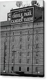 Baltimore Orioles Park At Camden Yards Bw #2 Acrylic Print