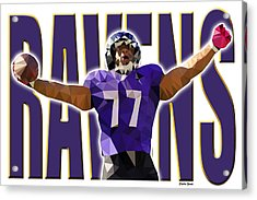 Baltimore Ravens Acrylic Print by Stephen Younts