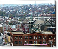 Baltimore Rooftops Acrylic Print by Carol Groenen